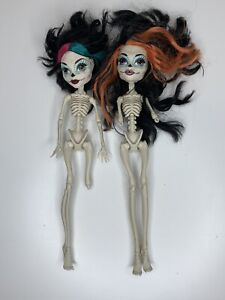 2 Monster High Scaris Skelita Calaveras Nude Dolls Skeleton 2012