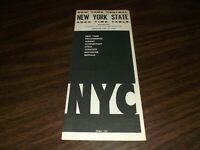 APRIL 1966 NEW YORK CENTRAL NYC NEW YORK STATE FORM 100 PUBLIC TIMETABLE