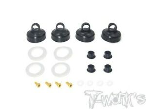 Tworks TO-273A Black Hard Coated Alu Aeration Shock Caps for RC8B3.1