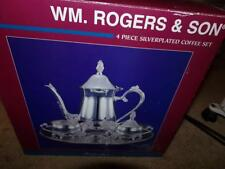 w.m.rodgers silverplated silverwear COFFEE SET 4 PIECE SET NEW IN BOX ESTATE