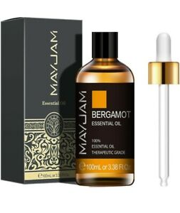 MAYJAM Bergamot Essential Oils 100ml, 100% Pure Natural Essential Oils NEW