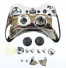 Replacement Custom Chrome Silver Xbox 360 Controller Shell Case Cover