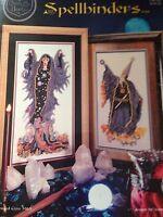 cross stitch chart book MAGICIANS WIZARDS x 2 designs spellbinders