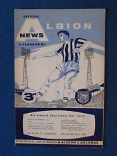 West Bromwich Albion v Arsenal - 15/4/63 - Programme -inc Man City Reserve match