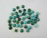 Lovely Lot Natural Tibetan Turquoise 5X5 mm Round Cabochon Loose Gemstone