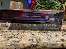 "ION  1"" Titanium Multi Styler Curl or Straighten 1 inch PURPLE 301199"