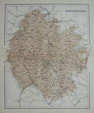 1868 MAP ENGLAND ~ HEREFORDSHIRE KINGTON PEMBRIDGE LEOMINSTER BROMYARD