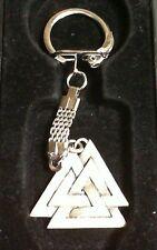 Valknut Symbol of Odin Pewter Pendant Keychain! New Thor Viking Norse Pagan
