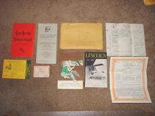 1953 Lincoln Capri 4 Door Sports Sedan Factory Original Owners Manual Set