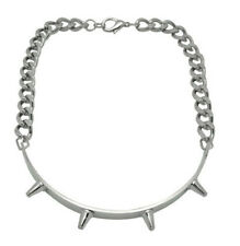 Steel Spiked Chain Choker Necklace