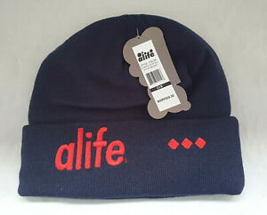 Alife Cuffed 3D Beanie Dark Blue (Elipse Blue) One Size Fits All | New withTags