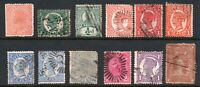 Queensland 12 Queen Victoria Used Stamps incl. Rare Six Pence Stamp Duty (8974)