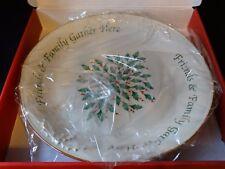 Lenox For the Holidays Friends & Family Gather Here Dessert Platter  ~ NIB