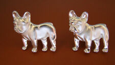Sterling Silver French Bulldog Standing Study Cuff Links