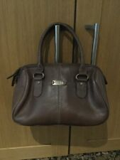 SMALL BROWN HIDESIGN LEATHER HANDHELD BAG / BARELY USED GOOD CONDITION