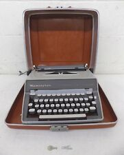 Vintage Remington Letter-Riter DeLuxe Tabulator Portable Typewriter Locking Case