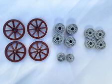LEGO - Joblot De Roues En Différentes Tailles, Wagon Moto Voiture / 14 Pièces