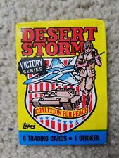 ONE Vintage Desert Storm Victory Series Wax Pack of 8 Trading Cards (TOPPS 1990)