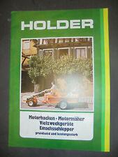 Prospekt Sales Brochure Holder Motorhacken Motormöher Vielweckgeräte Schlepper