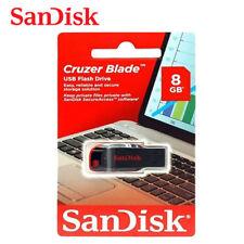 SanDisk 8GB Farbe-schwarz Cruzer Blade USB-Speicherstift 2.0 Flash Drive SDCZ50
