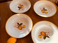 "Set(s) of 4: WILLIAMS-SONOMA 10"" Lemon Botanical Individual Pasta Bowls MINT"