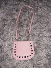 Mini coral coloured cross body handbag from Asos