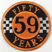 FIFTY YEARS 59 CLUB SEW On IRON ON BIKER MOTORCYCLE PATCH n-223