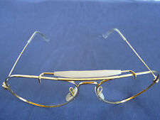 NOS Vintage B&L Ray Ban Outdoorsman Gold Plate 58[]14 Aviator Frame Sunglass USA
