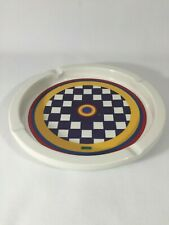"""Peter Max Vintage Checkerboard Ashtray ~ Genuine China By Iroquois ~ Retro ~ 10"""""""