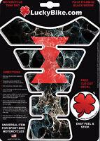 Spider Segmented Gas Tank Pad Universal Sticker Protector Scrape Black Widow