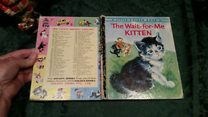 Little Golden Book THE WAIT-FOR-ME-KITTEN Lilian Obligado #254 SYD CAT FOX ~4sq