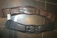 "BROWN 32"" ERGONOMIC ELBOW DRESSAGE GIRTH HERITAGE 100% ENGLISH MADE/LEATHER"