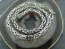 Königskette Halskette 10mm 60cm 335 Gr. Massiv Silber 925 Balikette Balichain