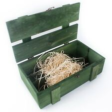 GREEN Wine 2 Bottle Presentation Box / Bottlebox / Gift Box /Storage Crate Case