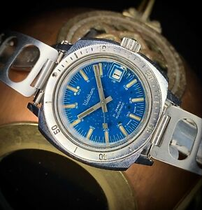 1960s Vintage Waltham Submersible 666ft divers watch, date ETA 2472 automatic
