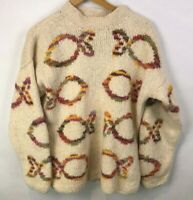 World Folk Art Imports INC Nanaimo Canada Knitted Sweater Pullover Fish