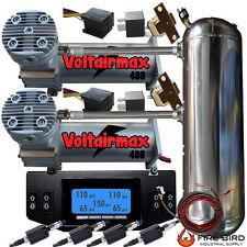 AirRide Dual Compressor VOLTAIR 480C P-Sw12-Position Digital Gauge Controller