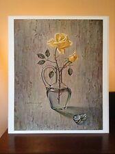 ORIGINAL RARE Tretchikoff Rose In Decanter 1960s - Vintage Kitsch Art Print