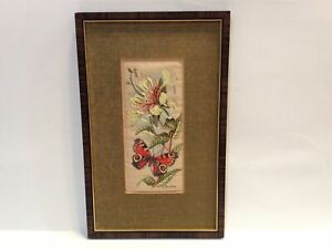 Vintage Cash's Woven Picture Collector Series Fine Silk England 10.5x6.5 framed
