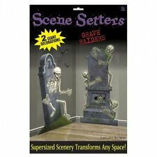 2 Giant Escena Setters Halloween Esqueleto Party Prop Decoración Tumba Raiders 5 ft (approx. 1.52 m)