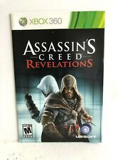 Assassins Creed Revelations Xbox 360 Manual Insert Replacement ONLY