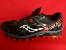 Saucony Men 8 Xodus Black Red Gore-Tex Hiking Trail Running Shoes 4MM Offset S20