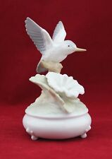 Vintage Porcelain Musical Box Figurine Hummingbird SANKYO The San Francisco