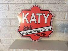 "The KATY Missouri Kansas Texas Railroad Logo Heavy steel Sign New 13.5 x 13"""