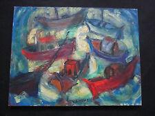 "Superbe marine  par Henri Gineste "" les pêcheurs en mer   """