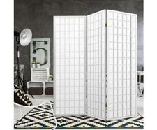 3 Panel Change Fitting Room Divider Privacy Folding Screen Barrier - White