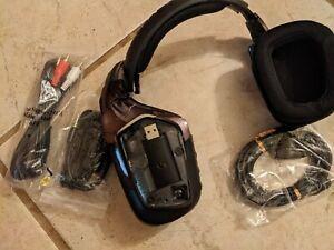 Logitech G933 Artemis Spectrum Headsetw/accesories broken headband and speaker