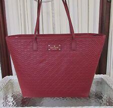 Kate Spade Margareta Penn Place XL Tote Leather Bag Train Car Red NWT