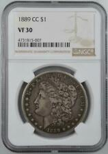 1889-CC Morgan Silver Dollar NGC VF 30 - No Reserve Auction - 99C Opening Bid