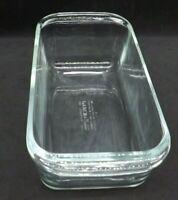 "Vtg Pyrex Clear Glass Bread Loaf Pan Dish 10"" x 4.75"" x 3"" Deep #213 Corning USA"